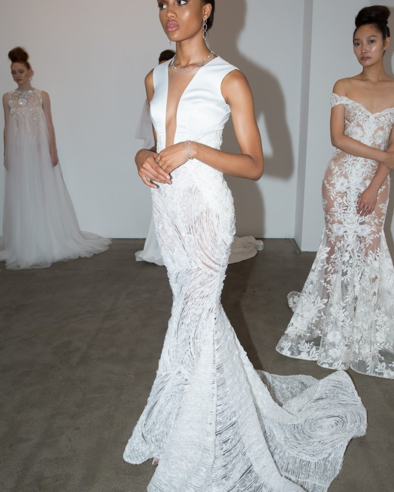 Michael Costello NYFW Bridal SS2018 photos by Marisa Pena & RudyK ...