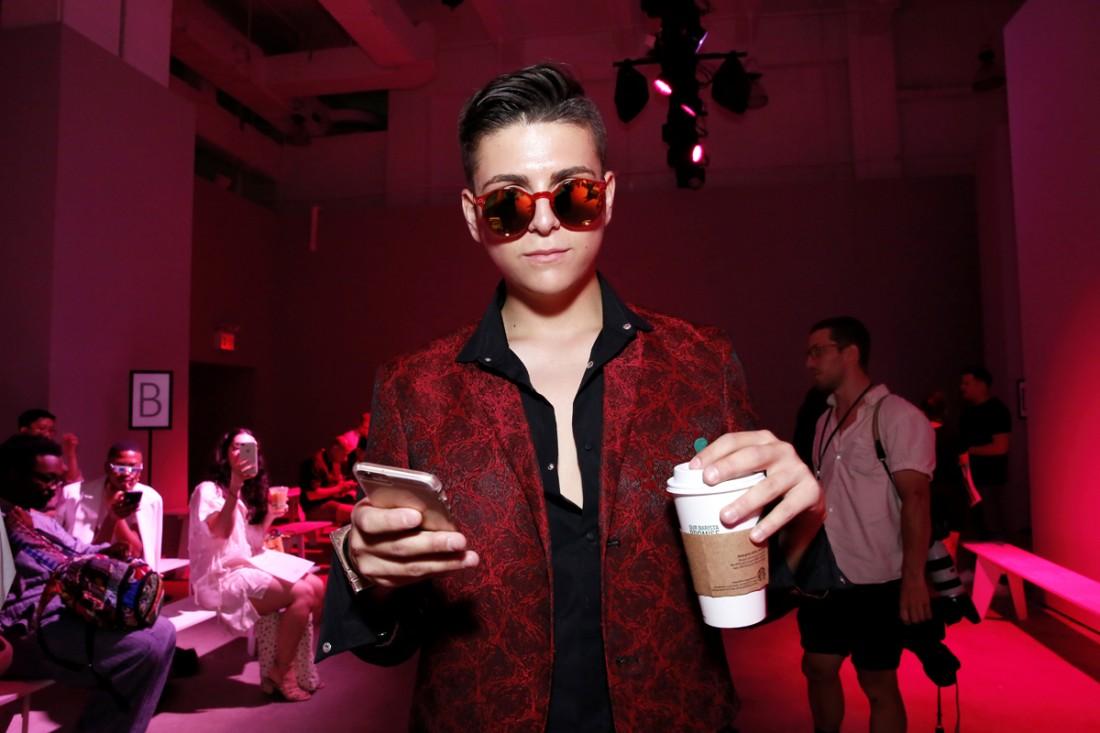 Austin Velarde@Feng Chen Wang Mens NYFW SS2018 photo by Cheryl Gorski