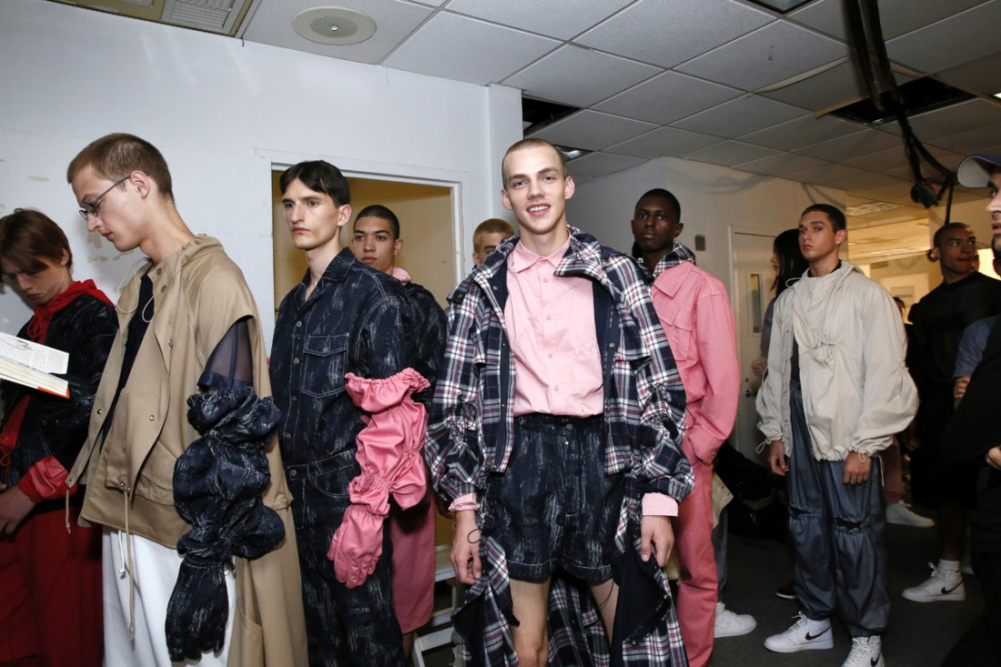 Back Stage@Feng Chen Wang Mens NYFW SS2018 photo by Cheryl Gorski 1
