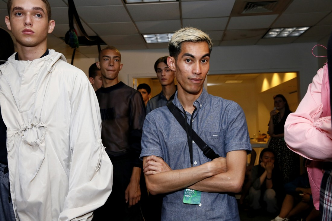 Back Stage@Feng Chen Wang Mens NYFW SS2018 photo by Cheryl Gorski 3