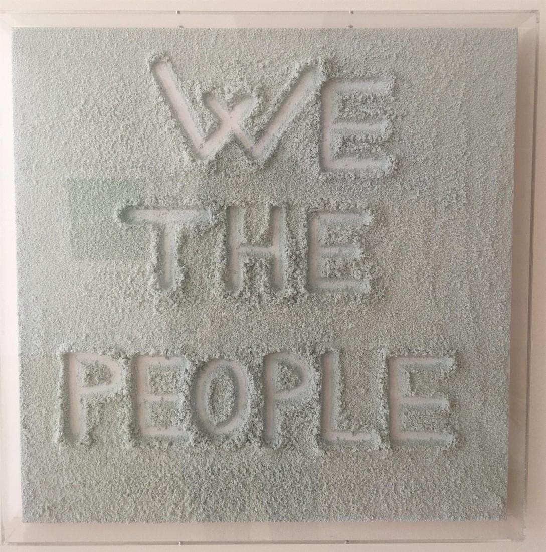 "We The People"" Salt Crystal Art Painting 2010"