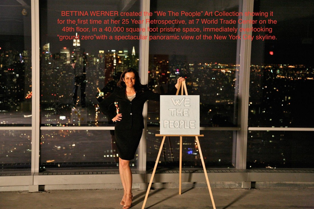 "Bettina Werner next to ""We The People"" Art Painting 2010"