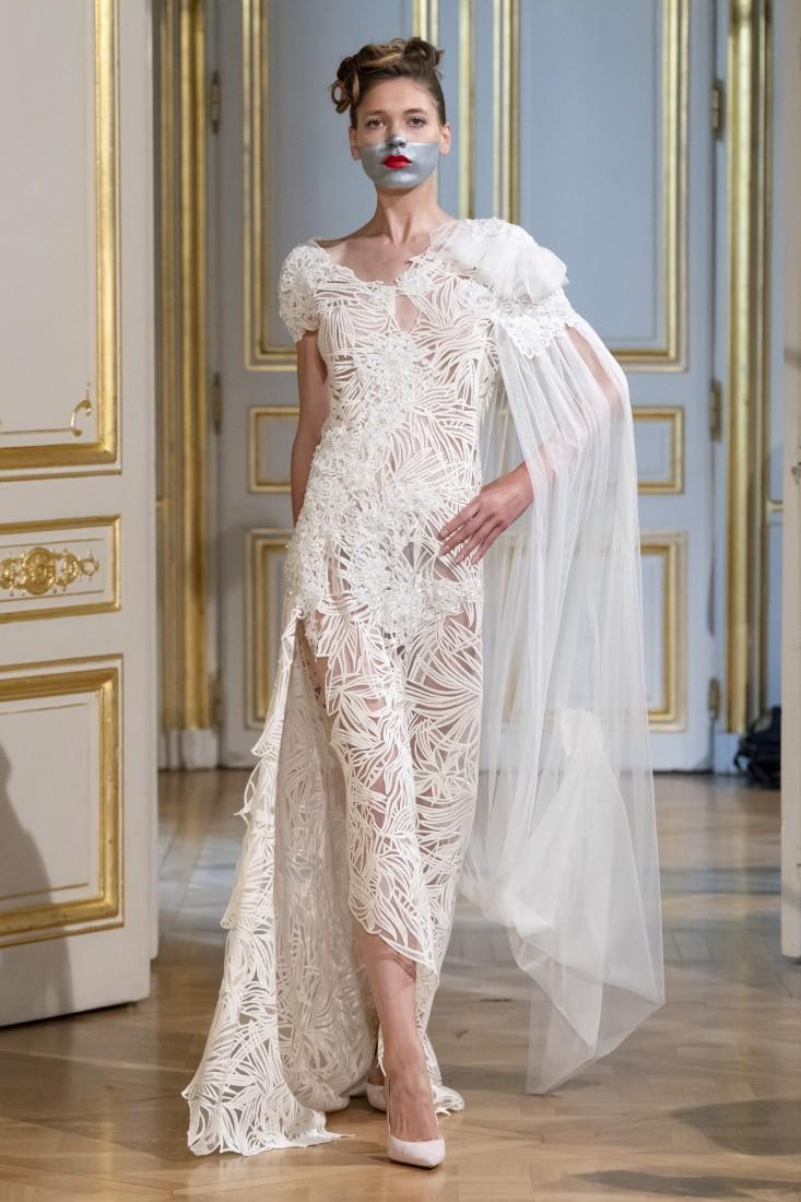 Photos défilé fashion show Patuna Couture Carré dAs Collection automne hiver fall winter 2018 2019 PFW © Imaxtree 12