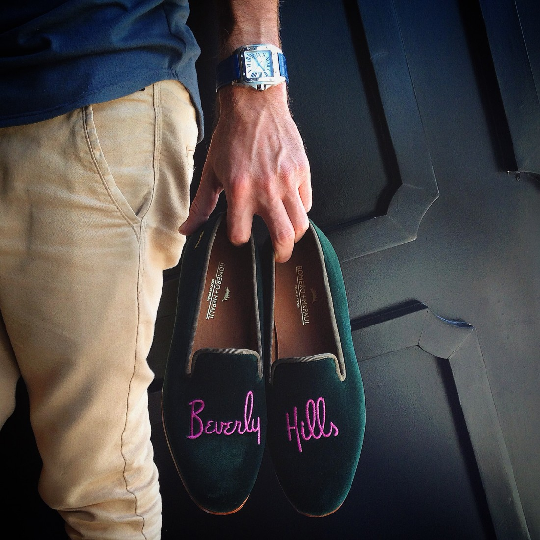 Romero McPaul Mens Beverly Hills Velvet Slippers