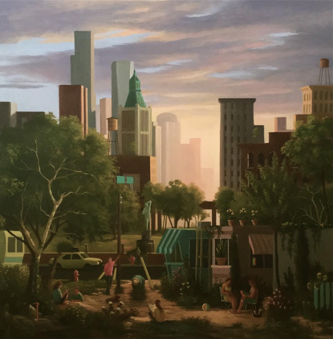 KEITH KATTNER CITY SCENE 36x 36 2017
