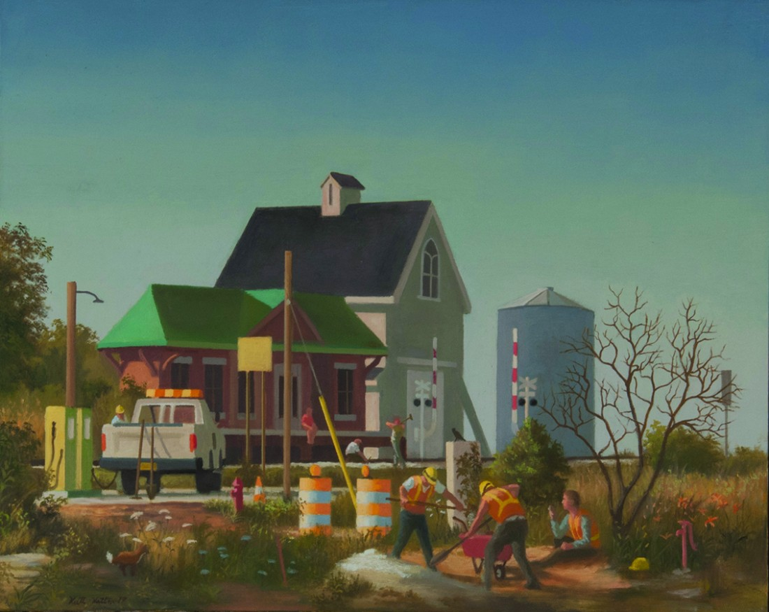 KEITH KATTNER Untitled Station 24 x 30 Oil on Canvas 2017 1