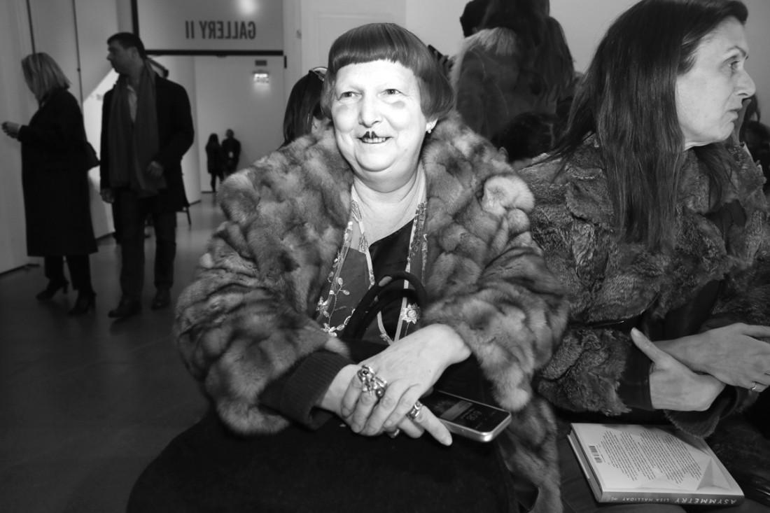Lynn Yaeger Front Row @Matthew Adams Dolan WOMENS NYFW FW2018 Photos by Cheryl Gorski 1