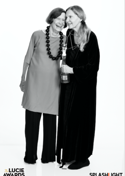 Vicki Goldberg, photography writer, critic, historian with Joyce Tenneson, 2018 Honoree, Achievement in Portraiture
