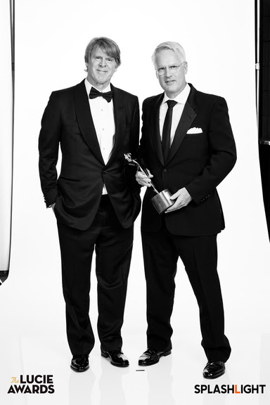 Mark Getty, co-founder and CEO, Getty Images, with John Moore, 2018 Honoree, Inaugural Impact Award