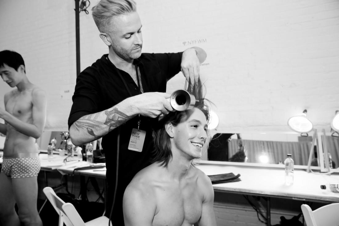 Backstage@Parke Ronen Mens NYFW SS2019 photo by Cheryl Gorski 4