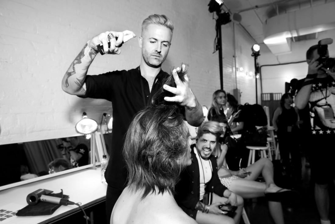 Backstage@Parke Ronen Mens NYFW SS2019 photo by Cheryl Gorski 8