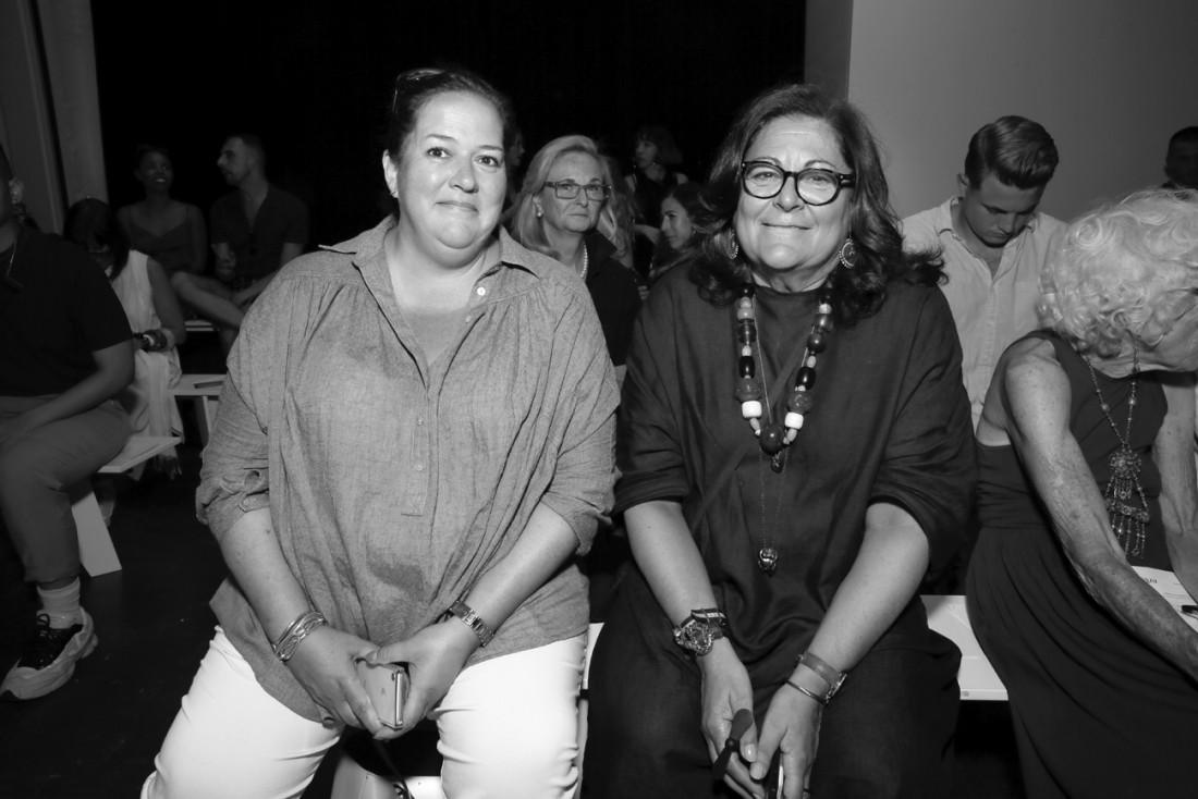 Christina D. Neault and Fern Mallis Front Row@PARKE RONEN Mens NYFW SS2019 photo by Cheryl Gorski 11