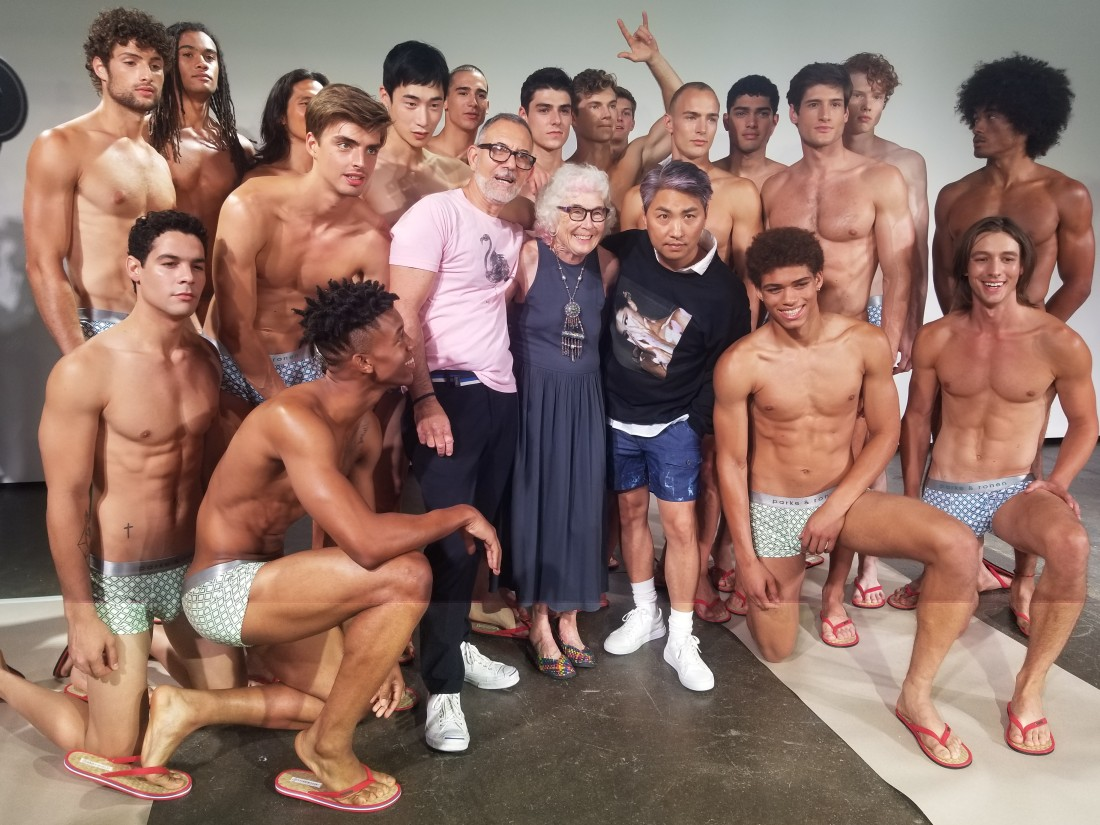 Designers Parke Ronen with Models Behind the Scene @ Parke Ronen Mens NYFW SS2019 photos by Leah Kim 14
