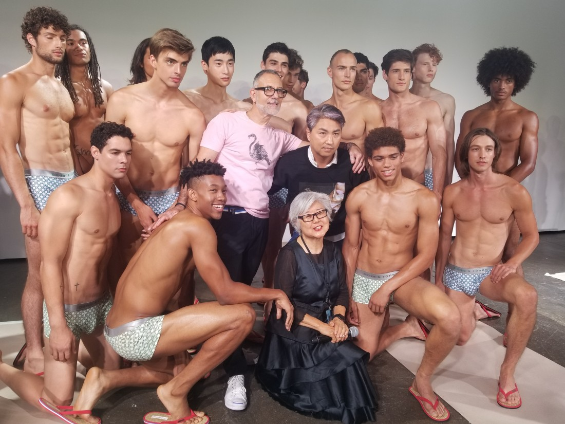 Designers Parke Ronen with Models Behind the Scene @ Parke Ronen Mens NYFW SS2019 photos by Leah Kim 21