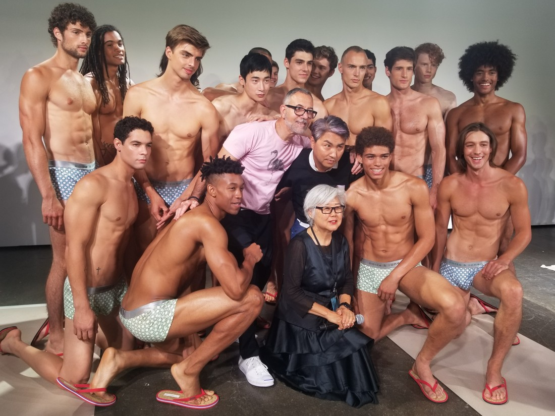 Designers Parke Ronen with Models Behind the Scene @ Parke Ronen Mens NYFW SS2019 photos by Leah Kim 24