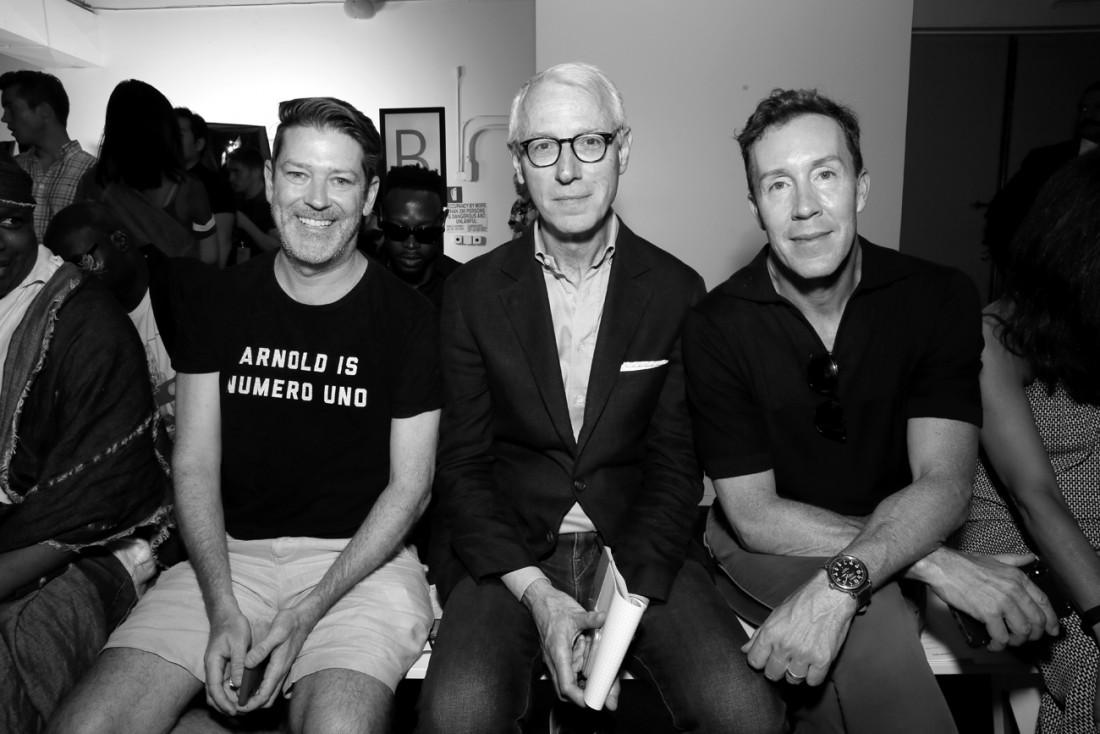 Eddie Roche Guy Trebay and Eric Jennings Front Row@PARKE RONEN Mens NYFW SS2019 photo by Cheryl Gorski 5