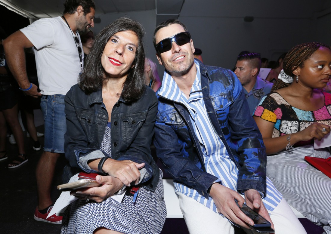 Jean Palmieri and Alex Badia Front Row@Feng Chen Wang Mens NYFW SS2019 photo by Cheryl Gorski 13