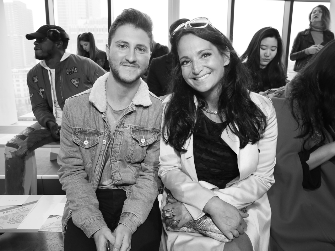 Jeff Perla and Emma Snowdon Jones Front Row@Son Jung Wan NYFW FW2018 photo by Cheryl Gorski 13