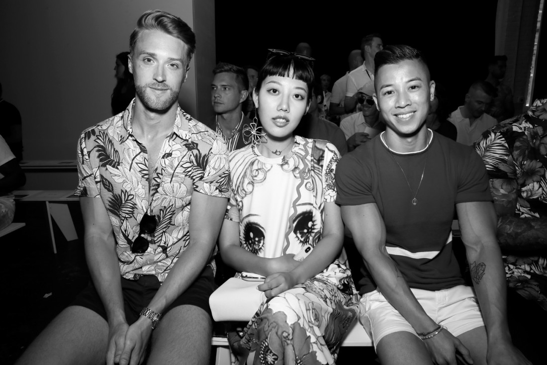 Michele Song Front Row@PARKE RONEN Mens NYFW SS2019 photo by Cheryl Gorski 17