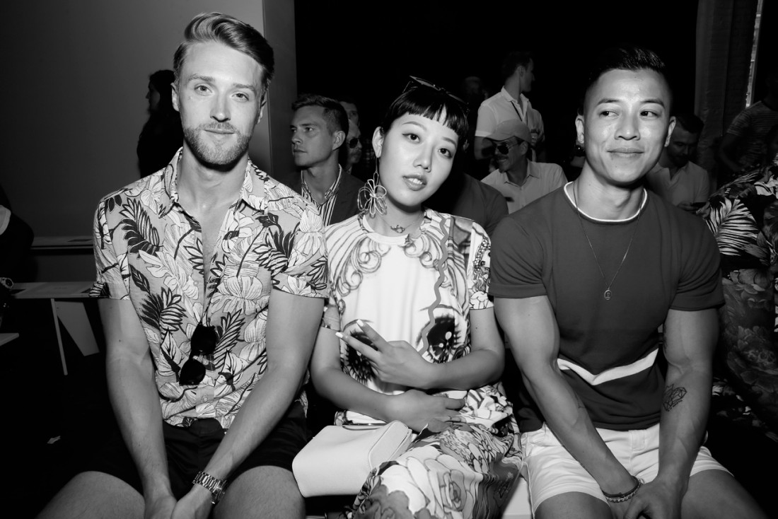 Michele Song Front Row@PARKE RONEN Mens NYFW SS2019 photo by Cheryl Gorski 18