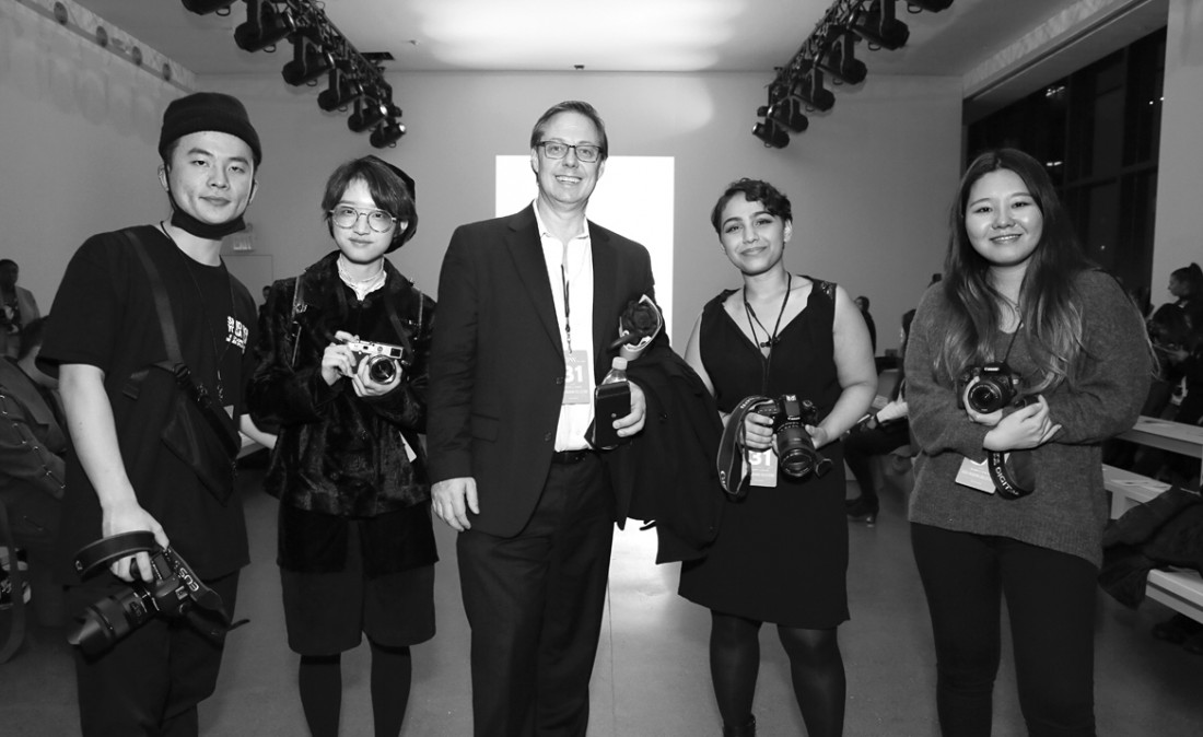Parsons Students Professor Thomas Werner@ Asia Fashion Collective NYFW photo by Cheryl Gorski 2