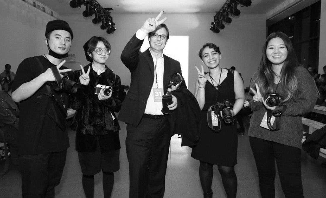 Parsons Students Professor Thomas Werner@ Asia Fashion Collective NYFW photo by Cheryl Gorski 4
