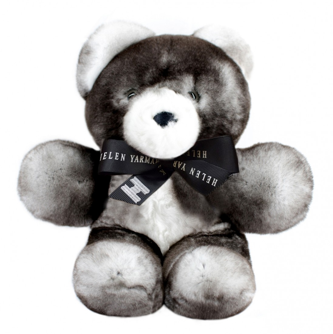 SMALL FUR TEDDY BEAR GREY FUR