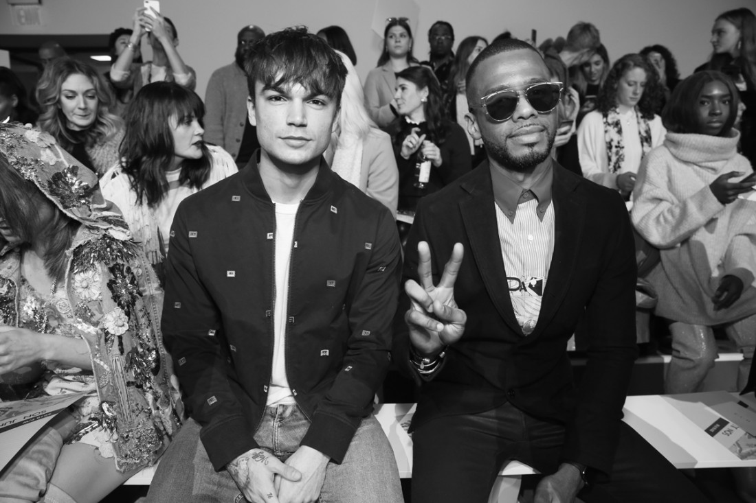 Samuel Manchini and Eric West Front Row@Son Jung Wan NYFW FW2018 photo by Cheryl Gorski 27