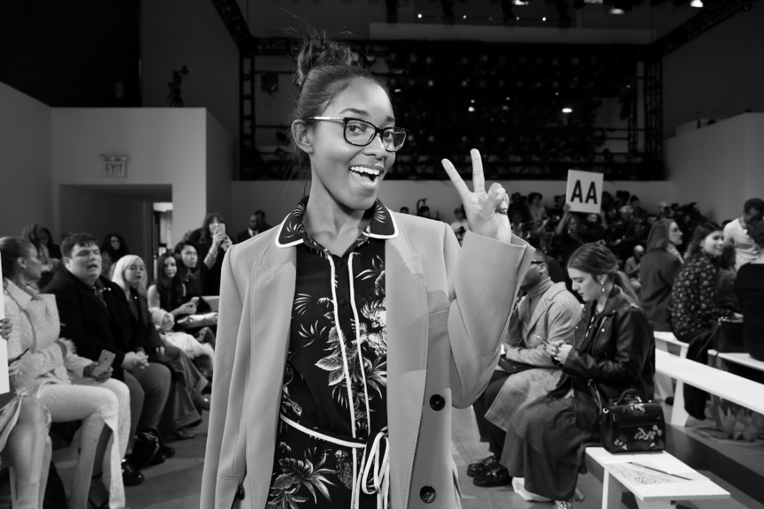 Shaniah Mauldin Front Row@Son Jung Wan NYFW FW2018 photo by Cheryl Gorski 10