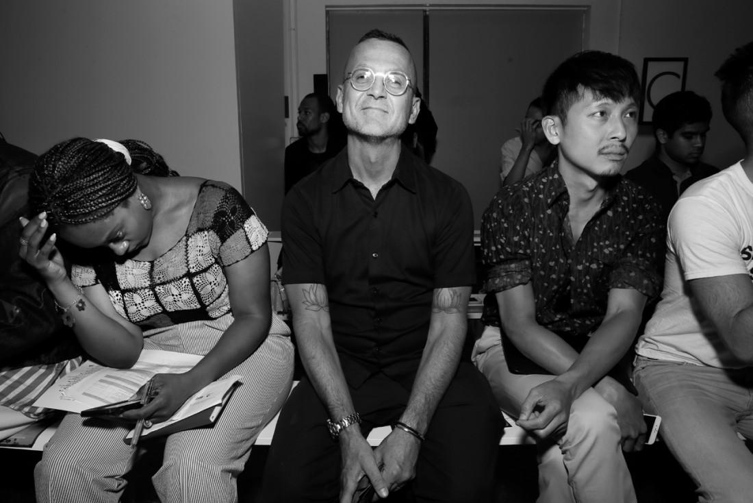 Steven Kolb Front Row@PARKE RONEN Mens NYFW SS2019 photo by Cheryl Gorski 6