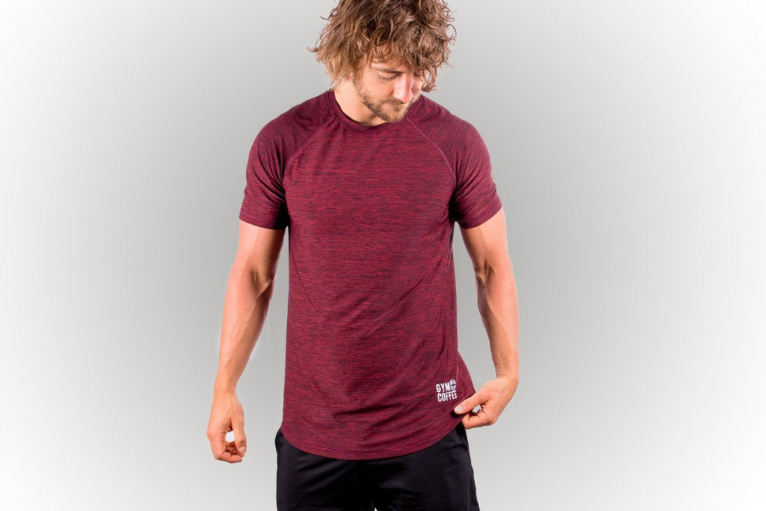 Gym Coffee Maroon Red T Shirt 45