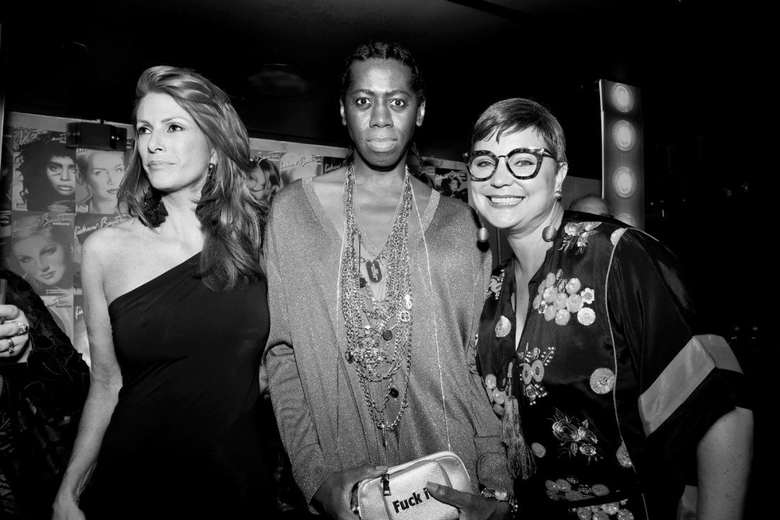 Angie Everhart and Miss J. Alexander @ RICHARD BERNSTEIN STARMAKER ANDY WARHOLS COVER ARTIST BOOK LAUNCH photo by Cheryl Gorski 82