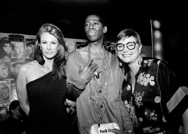 Angie Everhart and Miss J. Alexander @ RICHARD BERNSTEIN STARMAKER ANDY WARHOLS COVER ARTIST BOOK LAUNCH photo by Cheryl Gorski 83