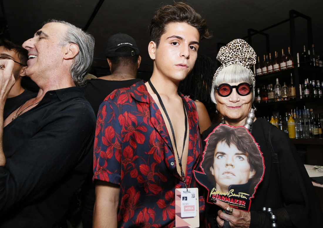 Austin Velarde and Jean Idiosyncratic Fashionistas @ RICHARD BERNSTEIN STARMAKER ANDY WARHOLS COVER ARTIST BOOK LAUNCH photo by Cheryl Gorski 1
