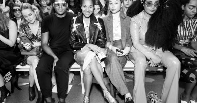 Hassan Pierre Tamu McPherson Margaret Zhang TK Wonder and Cipriana Quann Front Row@Tome NYFW SS2019 photo by Cheryl Gorski 18