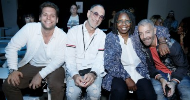 Josh Kapelman Gary Wassner and Whoopi Goldberg Front Row@Chromat NYFW SS2019 photo by Cheryl Gorski 4