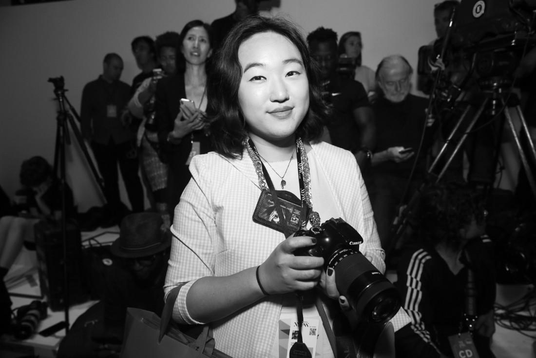 Leah Kim Front Row@Badgley Mischka NYFW SS19 photo by Cheryl Gorski 12