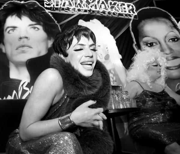 Markus Kellman as Liza Minnelli @ RICHARD BERNSTEIN STARMAKER ANDY WARHOLS COVER ARTIST BOOK LAUNCH photo by Cheryl Gorski 56