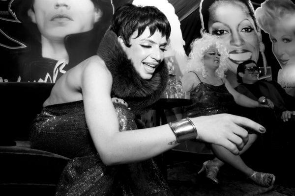 Markus Kellman as Liza Minnelli @ RICHARD BERNSTEIN STARMAKER ANDY WARHOLS COVER ARTIST BOOK LAUNCH photo by Cheryl Gorski 57