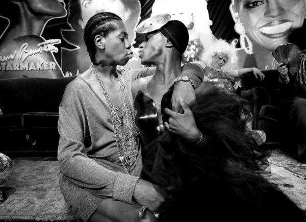 Miss J. Alexander and Jonte as Grace Jones @ RICHARD BERNSTEIN STARMAKER ANDY WARHOLS COVER ARTIST BOOK LAUNCH photo by Cheryl Gorski 36