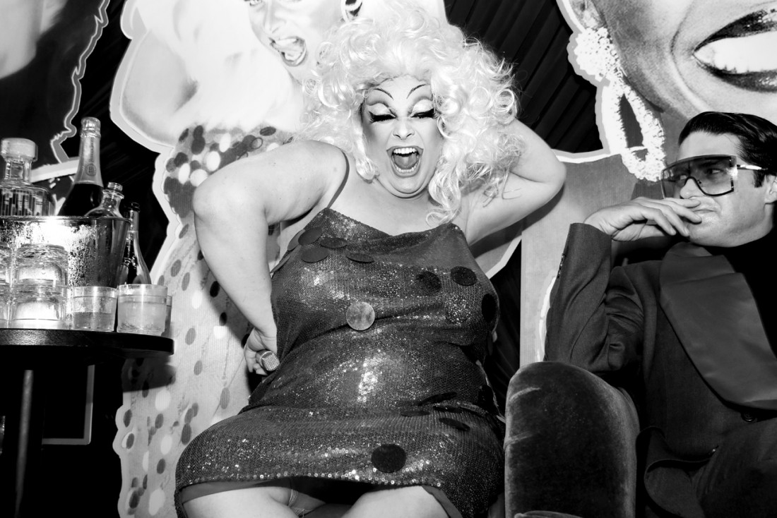 Queen Robert as Divine @ RICHARD BERNSTEIN STARMAKER ANDY WARHOLS COVER ARTIST BOOK LAUNCH photo by Cheryl Gorski 47