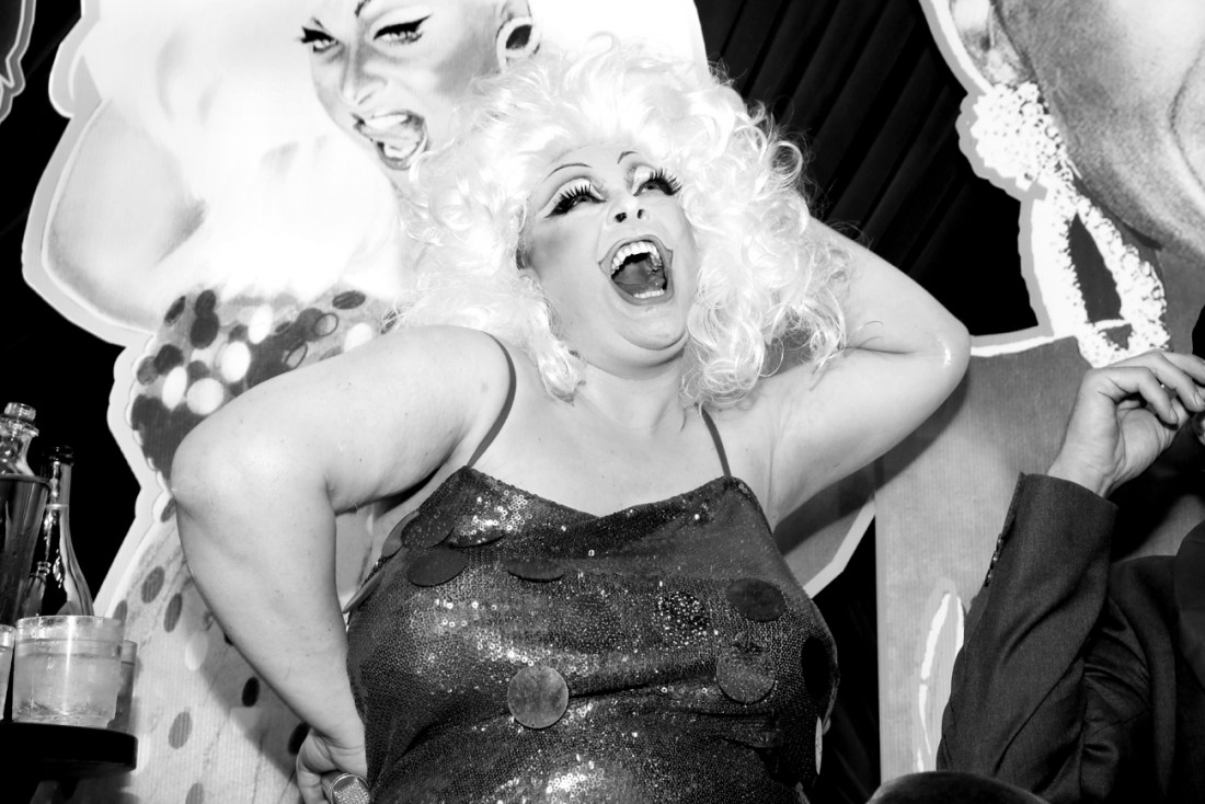 Queen Robert as Divine @ RICHARD BERNSTEIN STARMAKER ANDY WARHOLS COVER ARTIST BOOK LAUNCH photo by Cheryl Gorski 48