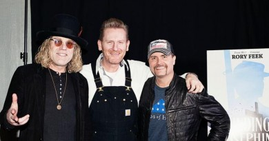 Photo by Miche Lucas Big Kenny, Rory Feek and John Rich at Finding Josephine premiere Sunday, January 27th on Rory Feek's Farm in Columbia, TN