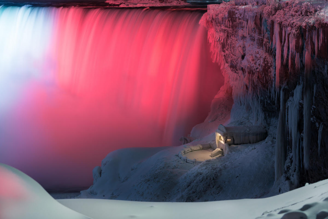 From the Archive: An Illuminated Niagara Falls Captured in a