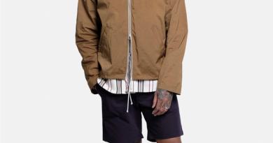 Deconstructed Anorak in Cinnamon + OG Shorts in Navy