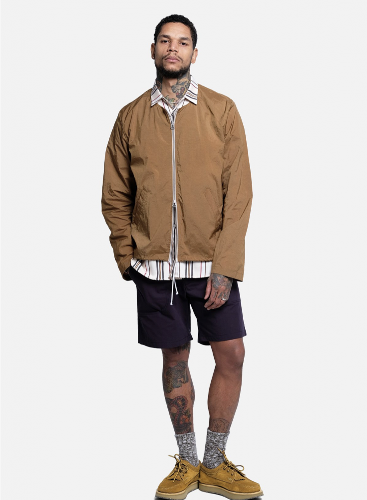 Deconstructed Anorak in Cinnamon + OG Shorts in Navy