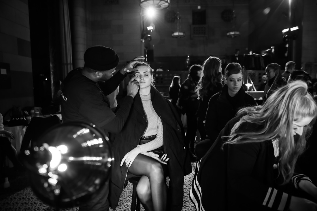Backstage @Dennis Basso NYFW2019 photo by Marisa Pena 1