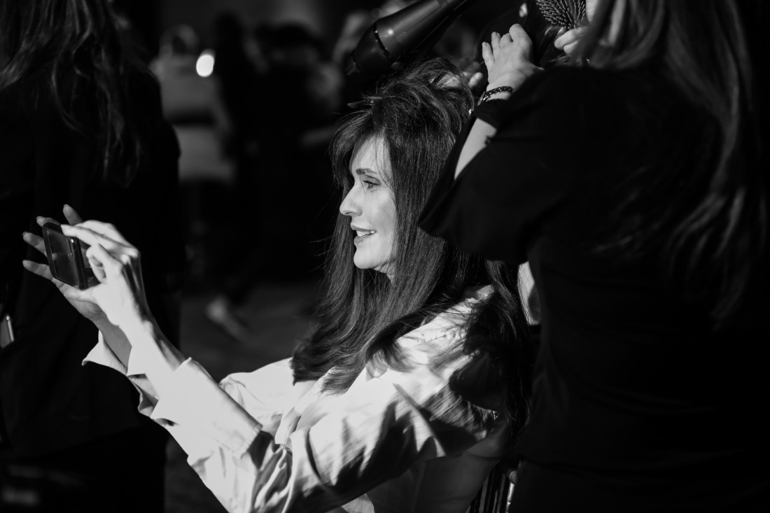 Backstage @Dennis Basso NYFW2019 photo by Marisa Pena 11