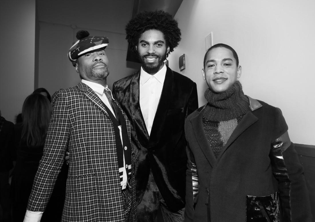 Billy PorterSean Frazier Jeremy Carver @The Blue Jacket Fashion Show Mens NYFW FW2019 photo by Cheryl Gorski 97