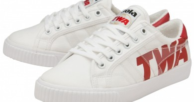 TENNIS TWA CLA634 WHT RED PAIR